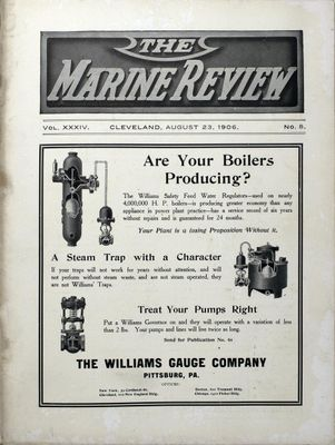 Marine Review (Cleveland, OH), 23 Aug 1906