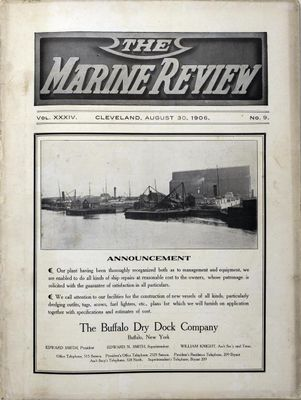 Marine Review (Cleveland, OH), 30 Aug 1906