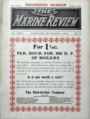 Marine Review (Cleveland, OH), 6 Sep 1906