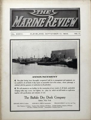 Marine Review (Cleveland, OH), 13 Sep 1906