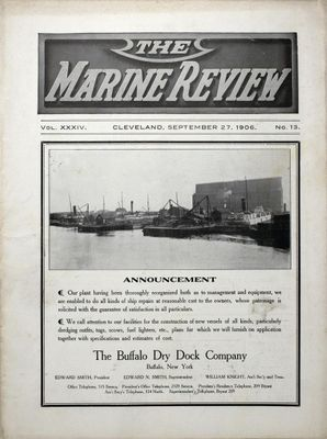 Marine Review (Cleveland, OH), 27 Sep 1906