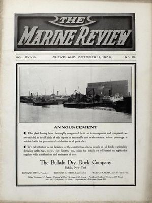 Marine Review (Cleveland, OH), 11 Oct 1906