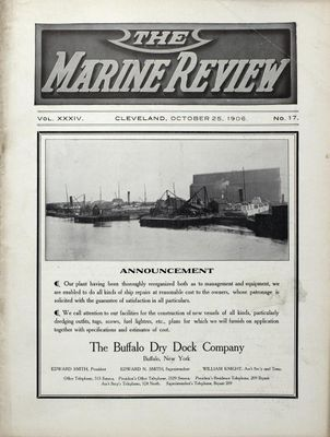 Marine Review (Cleveland, OH), 25 Oct 1906