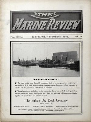 Marine Review (Cleveland, OH), 8 Nov 1906