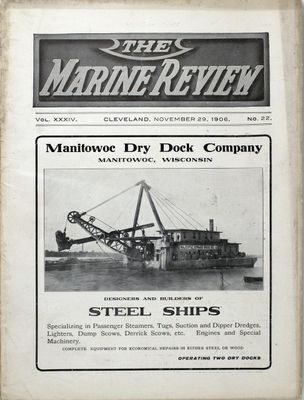 Marine Review (Cleveland, OH), 29 Nov 1906