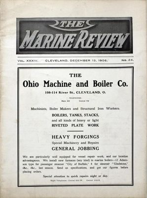 Marine Review (Cleveland, OH), 13 Dec 1906