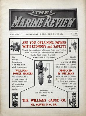 Marine Review (Cleveland, OH), 20 Dec 1906